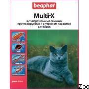 Ошейник Beaphar Multi-X антипаразитарный для котов (13190)