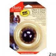 Hartz Hartz Cnc Twist'N Chew игрушка для собак очищения зубов - кольцо с шаром H 99403
