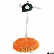 Trixie мышь на пружине и мягкой подставке 25см