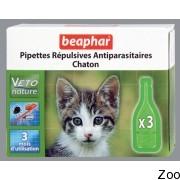 Капли от блох и клещей Beaphar Pipettes Repulsives Antiparasitaires Chaton для котят (15615)