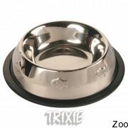 Trixie 24870 Миска, Металл. С Резинкой С Чеканкой Для Кошки Ф 11См, 0,25Л.