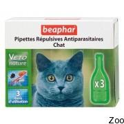 Капли против блох и клещей Beaphar Pipettes Repulsives Antiparasitaires Chat для взрослых кошек (15616)