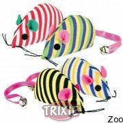 Trixie мышь с бубенчиком на хвосте с кошачьей мятой (4553)