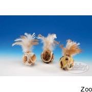 Nobby нобби плюшевые мячики с перьями 4,5 см (80177)