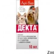 Акарицидный препарат Апи-Сан Декта для собак