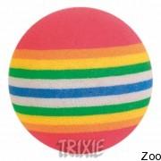 Trixie 4097 мячи-радуга 4 штуки, диаметр 3.5 Cм