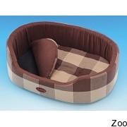 Nobby лежак овальный коричневый в клетку (69488; 69489; 69490)