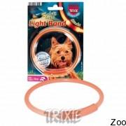 Trixie светящийся ошейник пластиковый, диаметр 25 см (13390)
