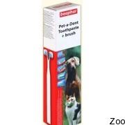 Зубная паста и щетка Beaphar Tooth Paste+Brush для животных (12570)
