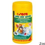 Гранулированный корм Sera Goldy Color Spirulina для поддержания окраса золотых рыбок (00881)