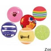 Trixie набор мячиков, ф 3,5см-4см, 6 шт. 4523
