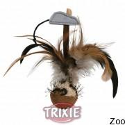 Trixie мяч с перьями и мышкой,15см (45730)