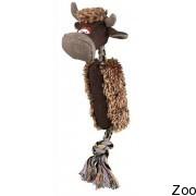 Корова Trixie плюшевая на канате со звуком (35963)