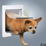 Врезная дверь Trixie белого цвета, размера XS-S
