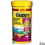 Корм JBL Novo Guppy в виде хлопьев для гуппи и других живородящих аквариумных рыб (18349)