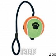 Trixie 3482 мяч тенисный на шнуре, диам.10 см, длина 40 см
