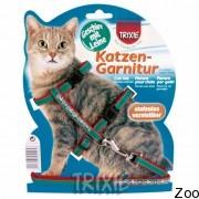 Trixie шлейка для кошки, вельвет с вышивкой (4191)