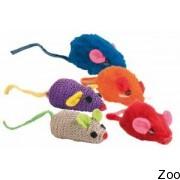 Trixie мышь разноцветная меховая 5 см (4084)