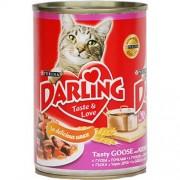 Консерва Darling для взрослых кошек с гусем и почками в соусе