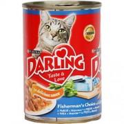 Консерва Darling для взрослых кошек с рыбой и морковью в соусе